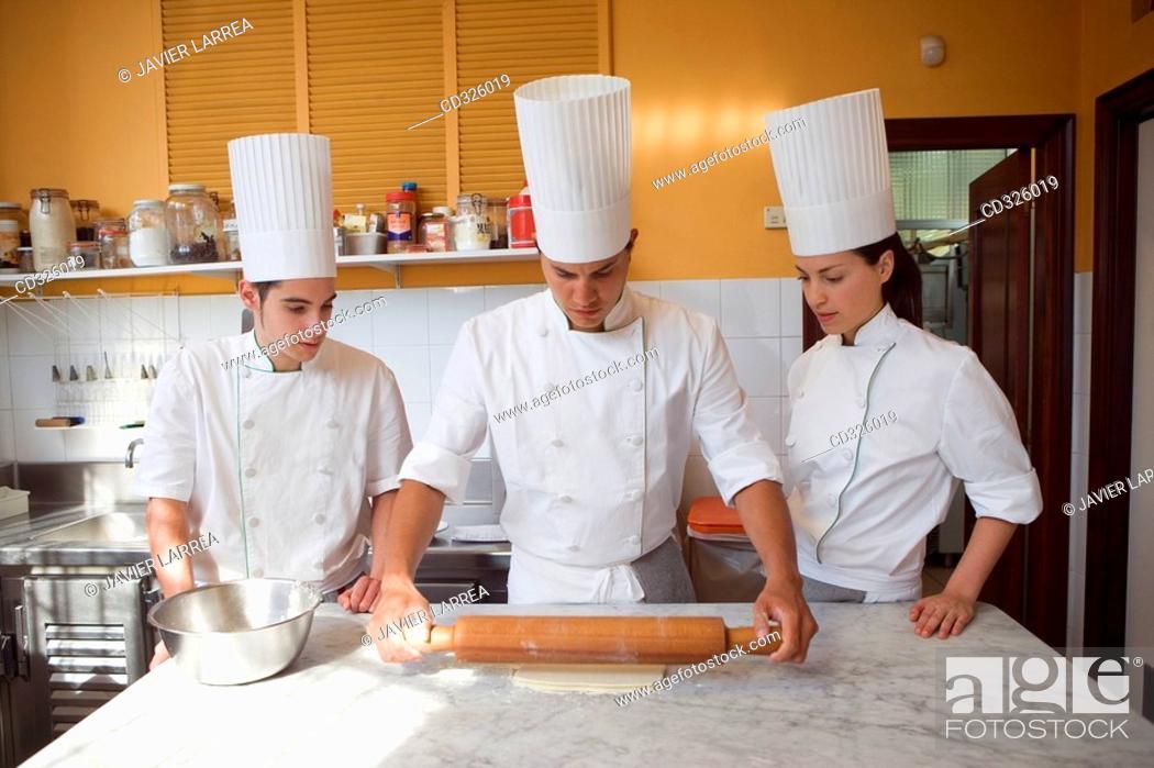 Stock Photo: Puff pastry. Luis Irizar cooking school. Donostia, Gipuzkoa, Basque Country, Spain.