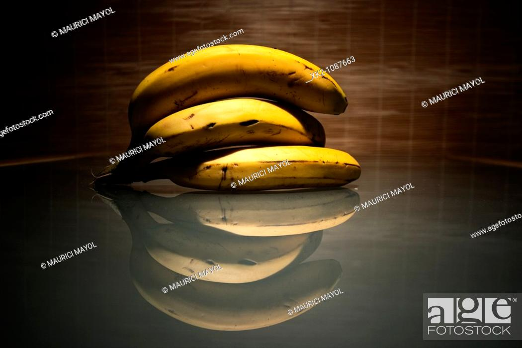 Stock Photo: The other half banana.