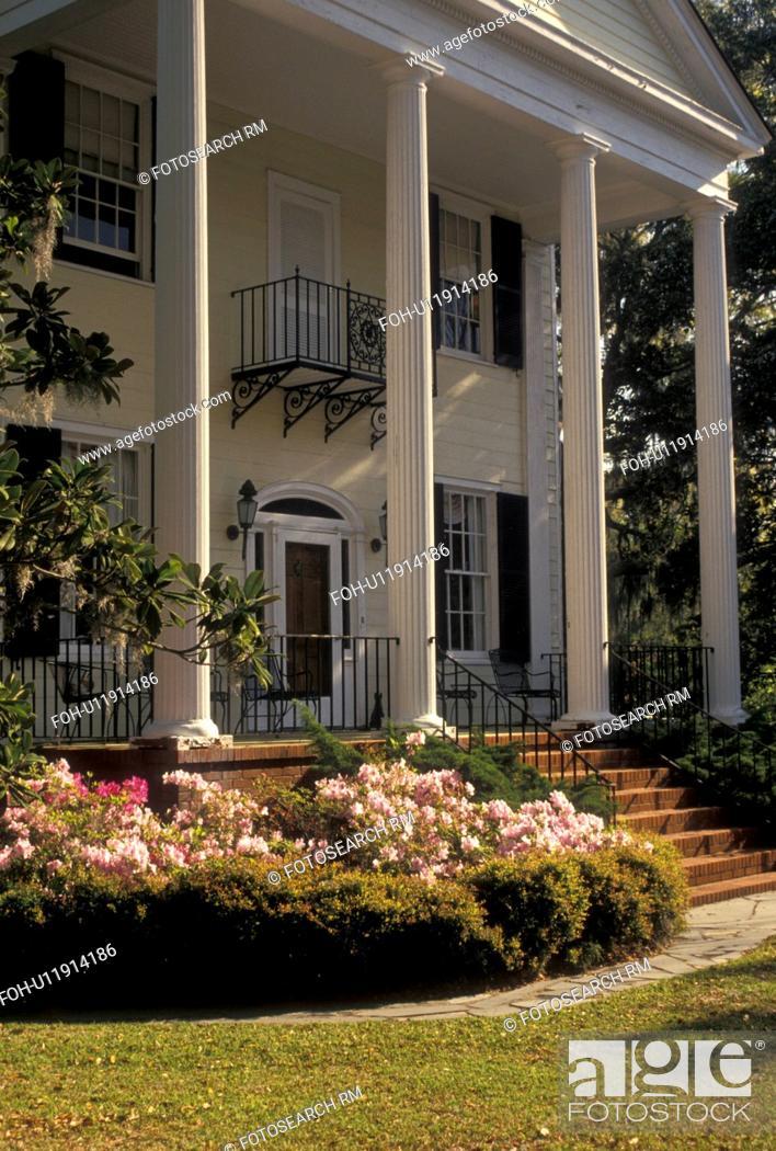 Stock Photo Beaufort South Carolina Antebellum Mansion Sc The John Joyner House In Historic District Town Of Spring