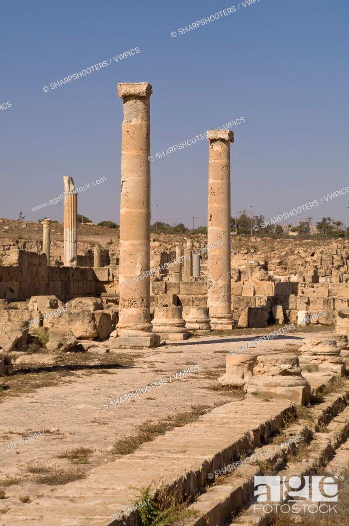 Photo de stock: Sabratha Roman site, Tripolitania, Libya.