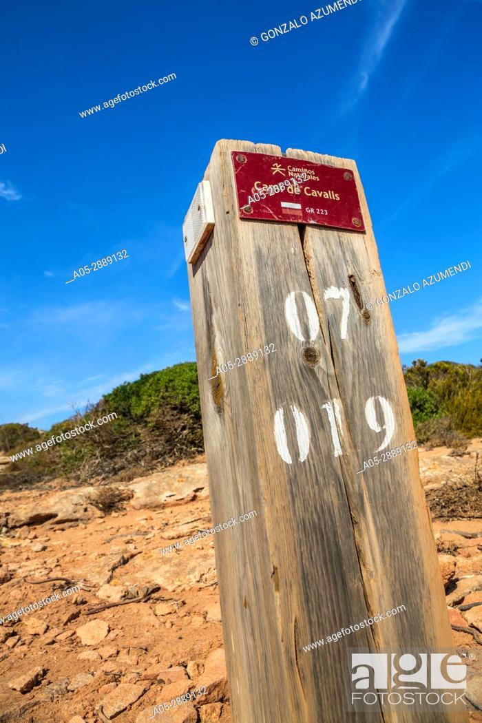 Stock Photo: Cami de Cavalls path. Way to Cala Pilar Beach. Ciutadella de Menorca Municipality. Minorca. Balearic Islands. Spain.