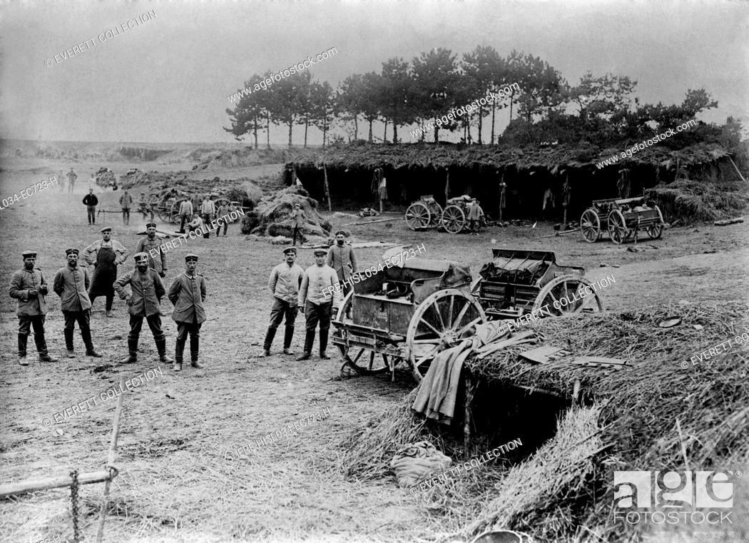 World War 1 Shelters Behind German Battlefront Soldiers Were