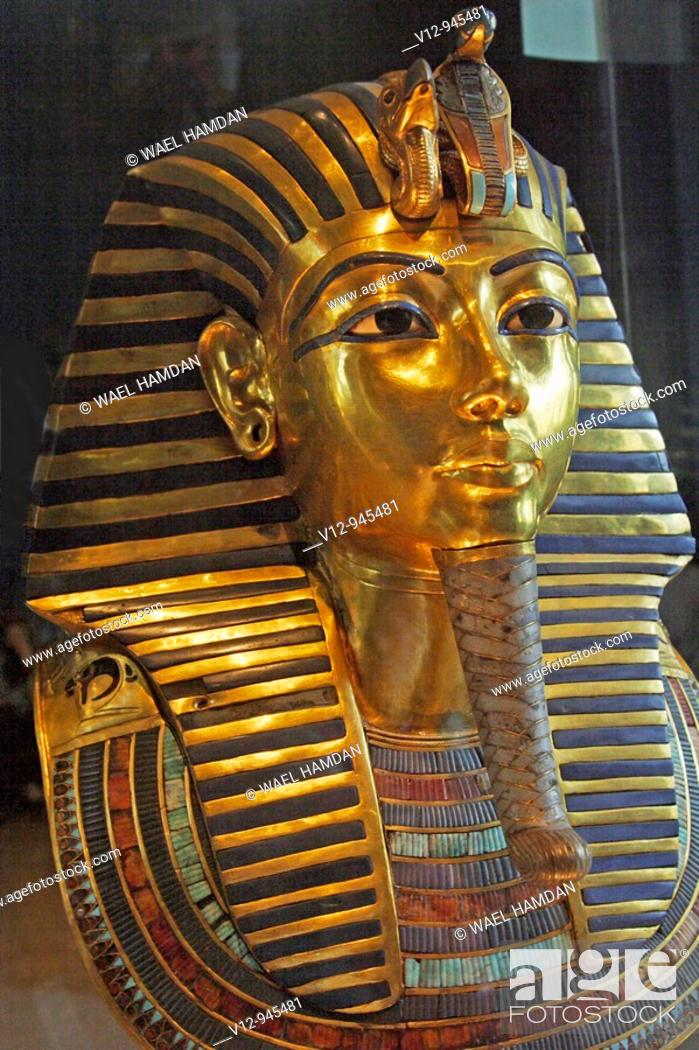 Imagen: Death mask of Tutankhamun. Egyptian Museum. Cairo. Egypt.
