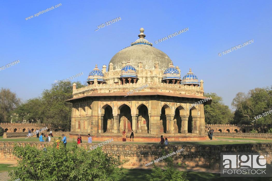 Stock Photo: Isa Khan's Tomb, New Delhi, India.