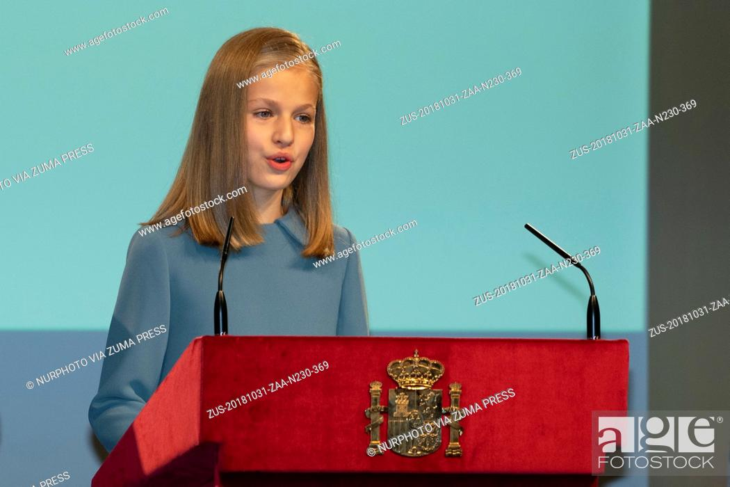 Imagen: October 31, 2018 - Madrid, Spain - Princess Leonor of Spain attends the reading of the Spanish Constitution for the 40th anniversary of its approval by the.