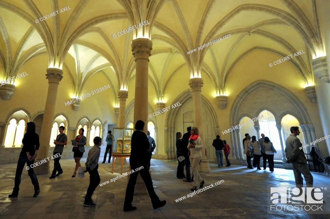 Stock Photo: France, Marne, Reims, visit of capitular room of Saint Remi listed as World Heritage by UNESCO museum.
