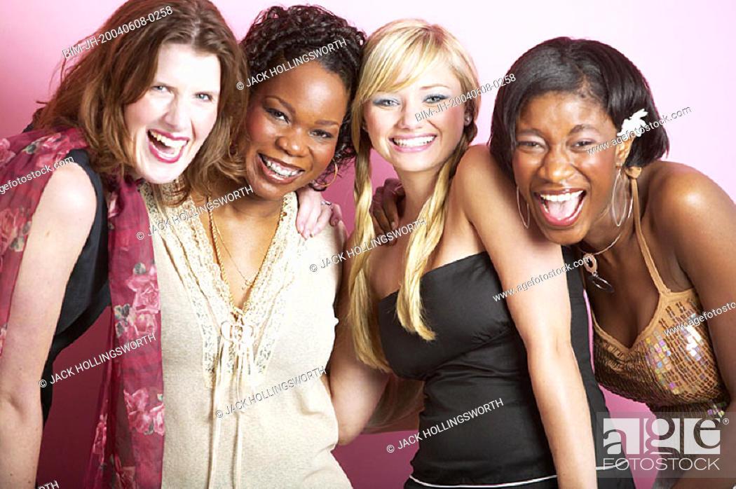Stock Photo: Group portrait of women.