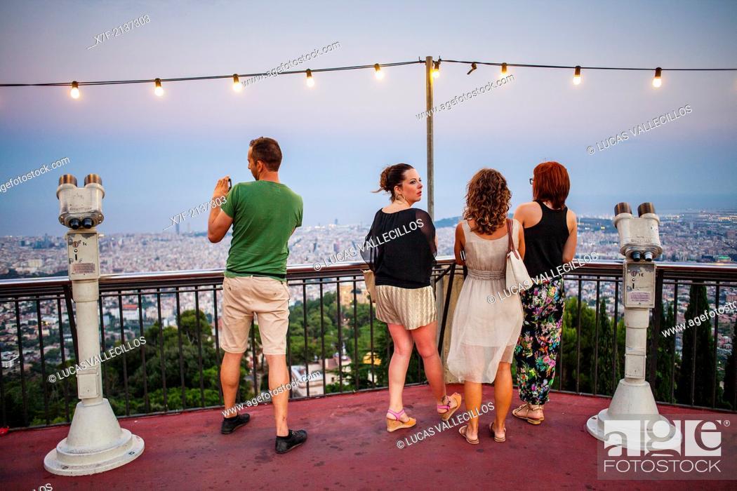 Stock Photo: viewpoint, in Tibidabo amusement park, Barcelona,Catalonia,Spain.