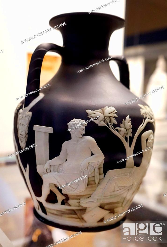 Stock Photo: Portland Vase, a Roman cameo glass vase. Dated 1st Century.