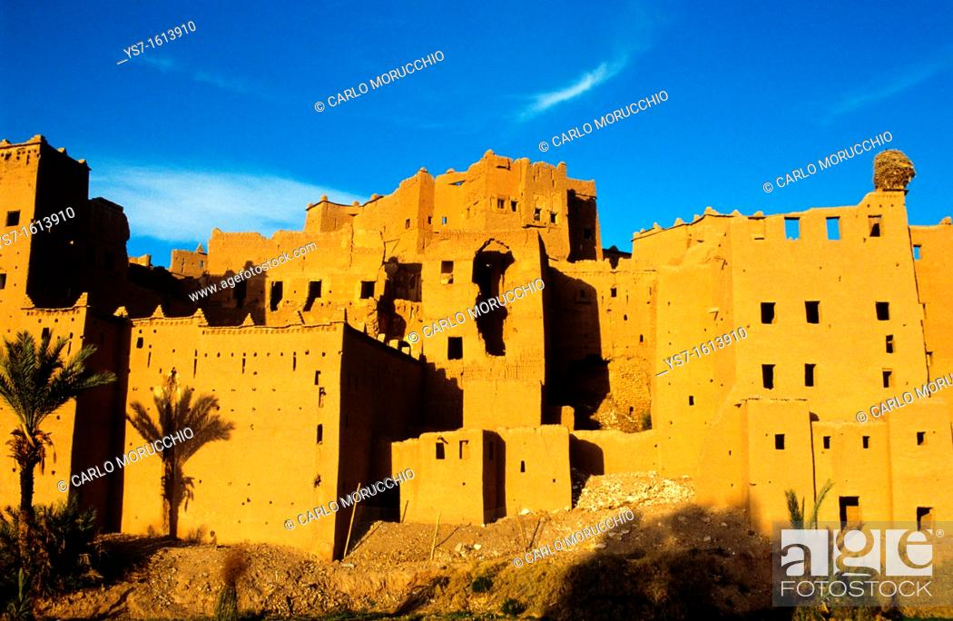 Stock Photo: Ouarzazate the old city Medina is nicknamed The door of the desert, Morocco, Africa.