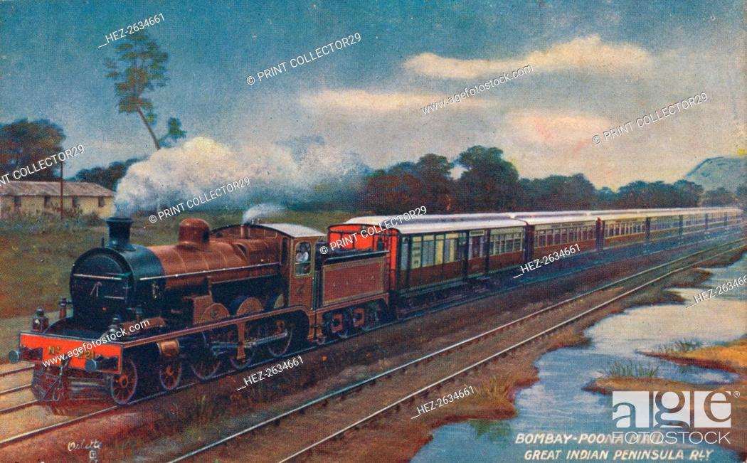 Stock Photo: 'Bombay-Poona Mail, Great Indian Peninsula Railway', c1900. Artist: Unknown.