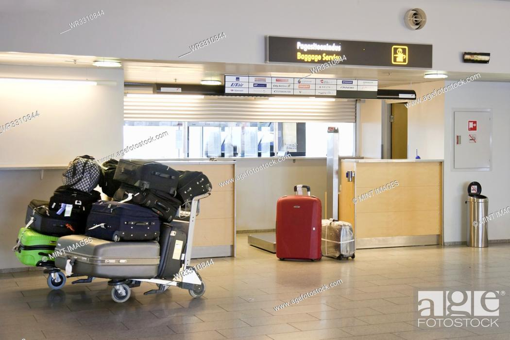 Stock Photo: Airport Baggage Area.