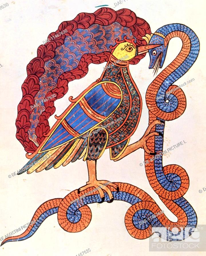 The Bird Eating The Snake Symbol Of Good And Evil Miniature From