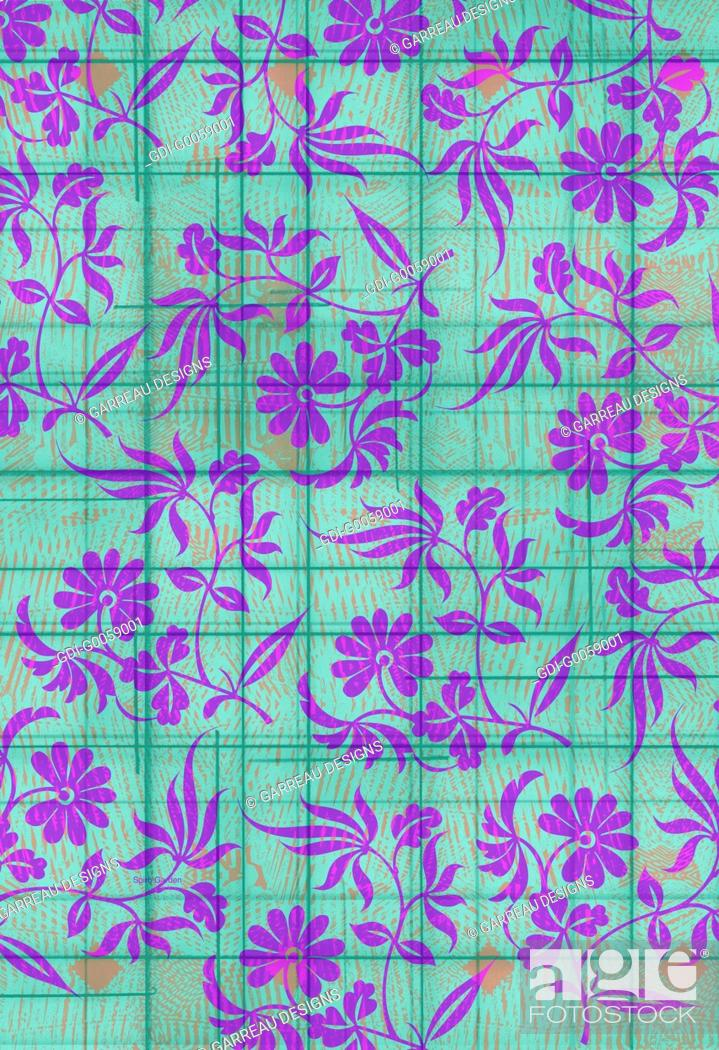 Stock Photo: Floral design on aqua background.