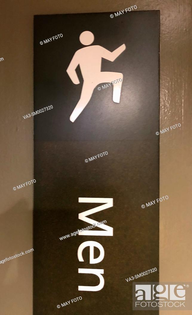 Stock Photo: Bathroom, men.