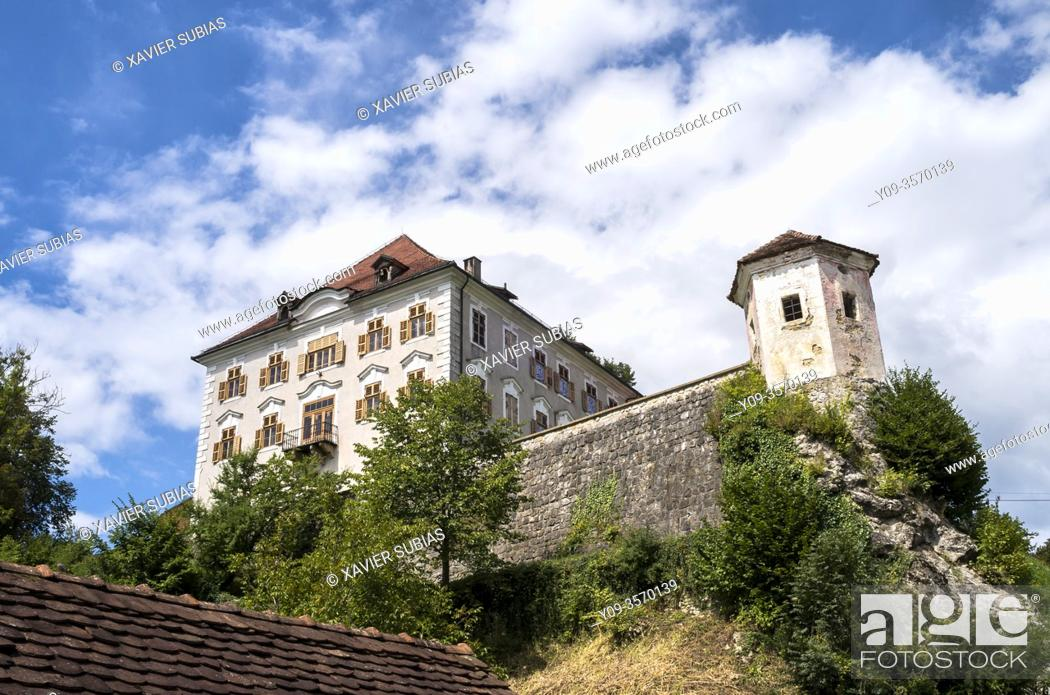 Stock Photo: Zaprice Castle, Kamnik, Slovenia.