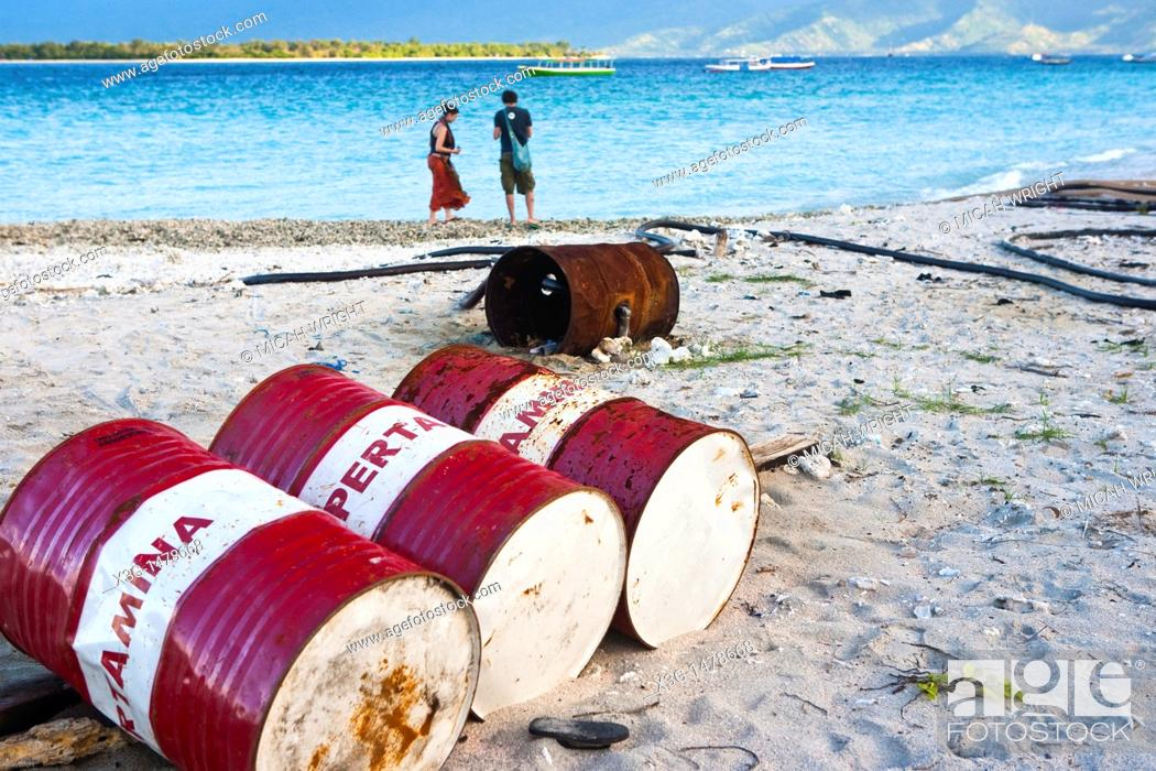 Stock Photo: Gili Trawangan is the largest of the Gili islands. This chain is one a few hours trip away from the touristy area of Kuta and a popular destination for.
