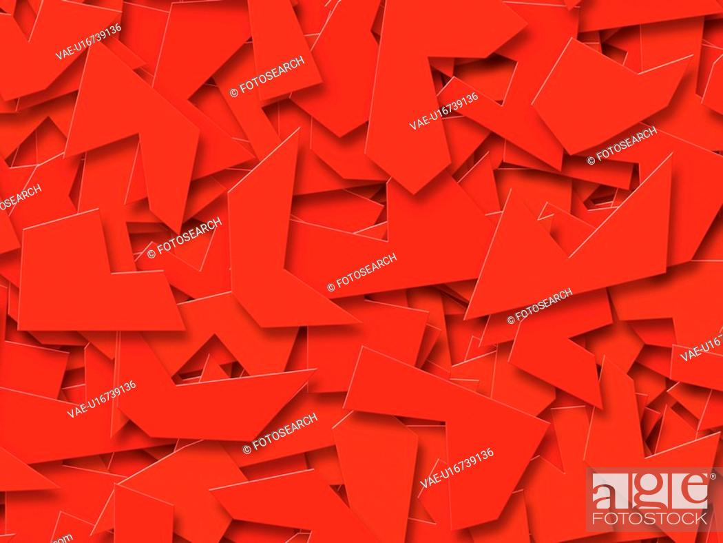 Stock Photo: Red Abstract Shapes.