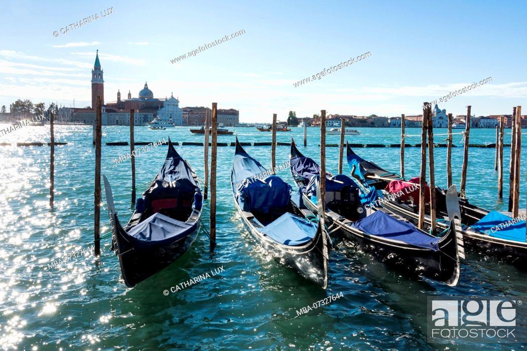 Imagen: Venice, Riva degli Schiavoni, morning light, gondolas.