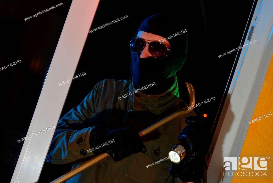 Stock Photo: burglar.