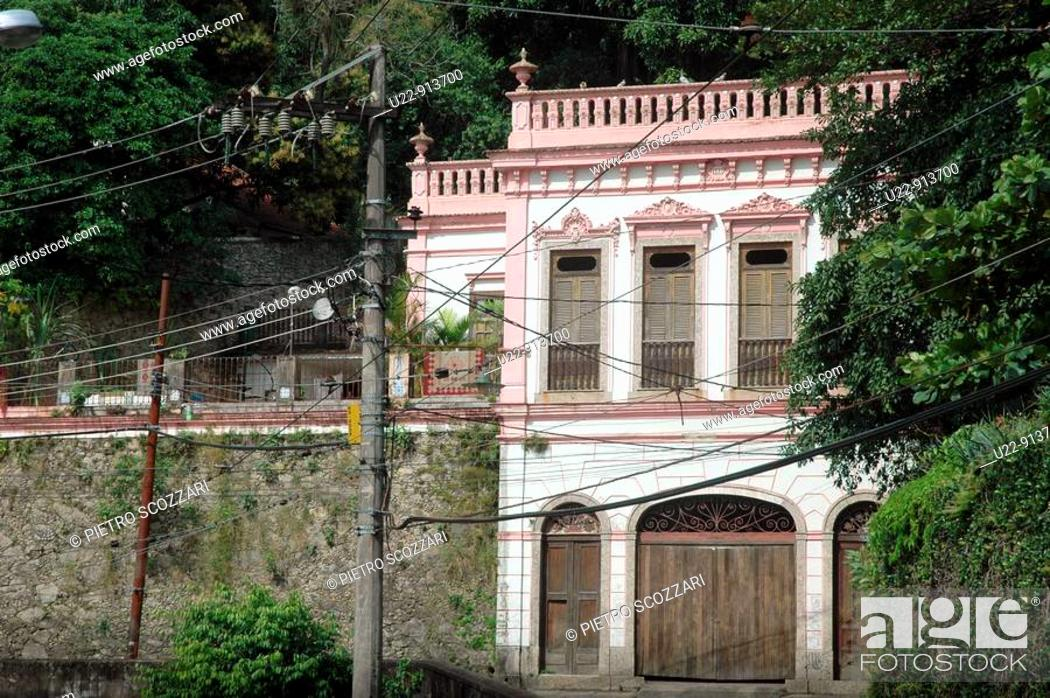 Stock Photo: Rio de Janeiro (Brazil): old house in the Santa Teresa neighborhood.