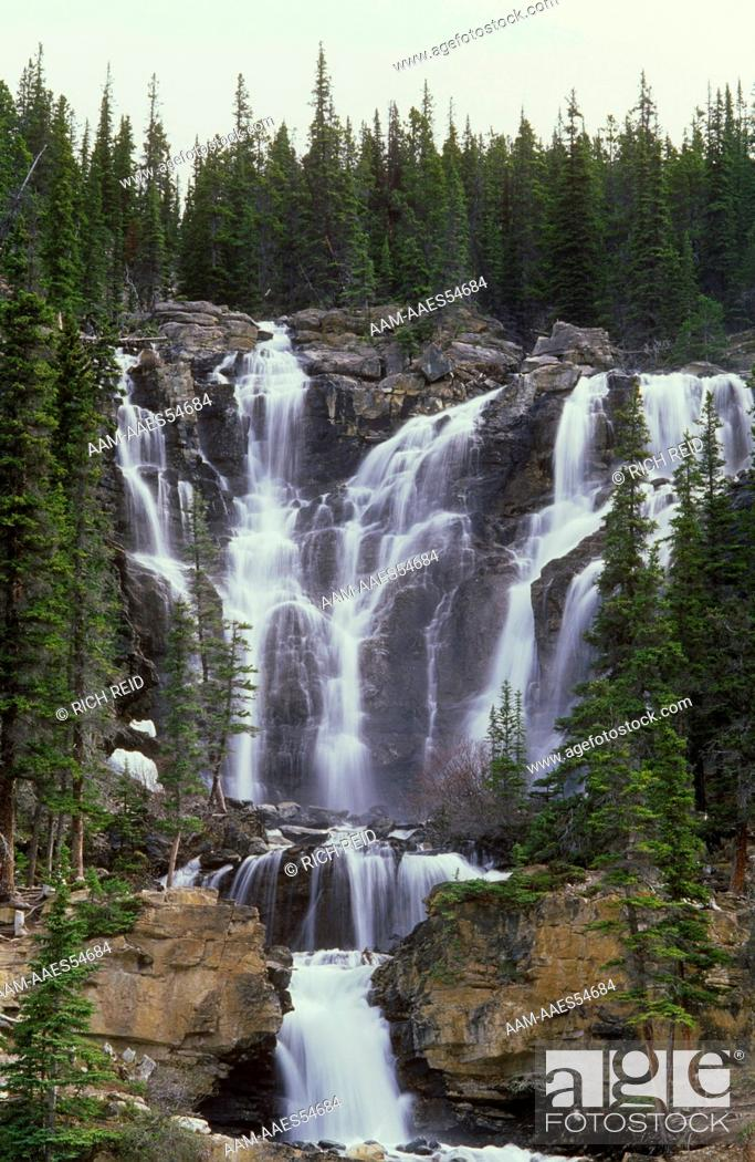 Stock Photo: Stanley Falls, Jasper N.P., Alberta, Canada.
