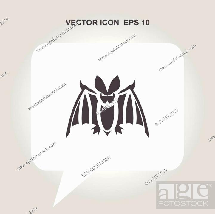 Stock Vector: bat vector icon.