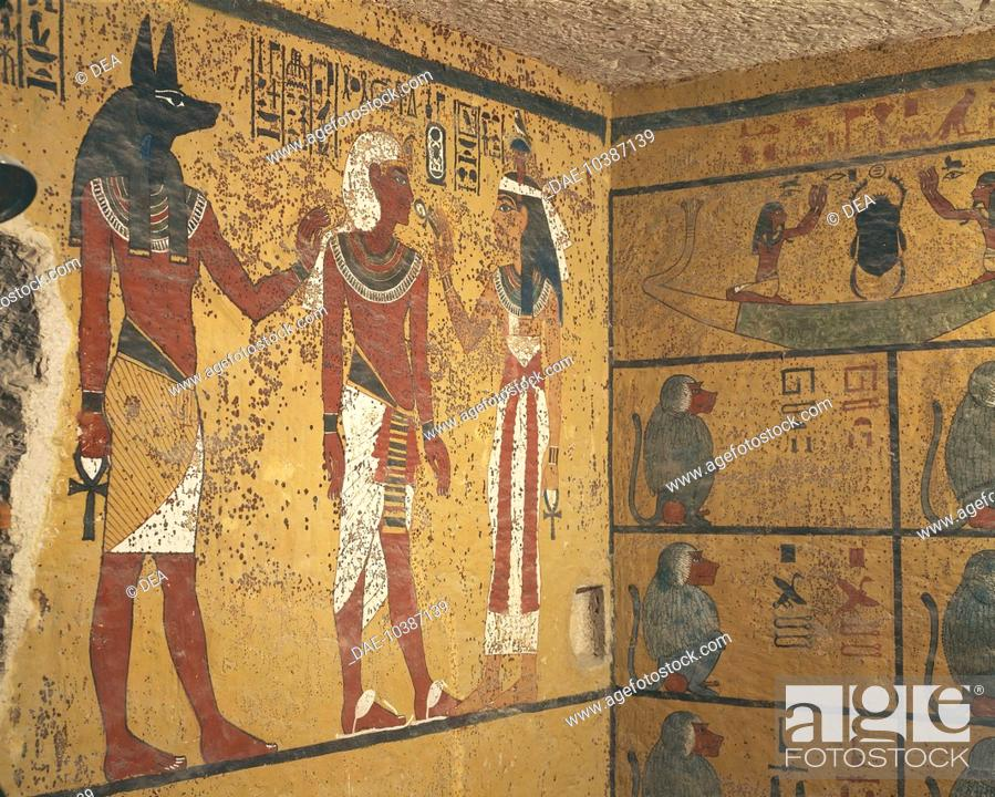 Stock Photo: Egypt - Ancient Thebes (UNESCO World Heritage List, 1979) - Valley of the Kings - Tomb of Tutankhamun, New Kingdom, Dynasty XVIII.