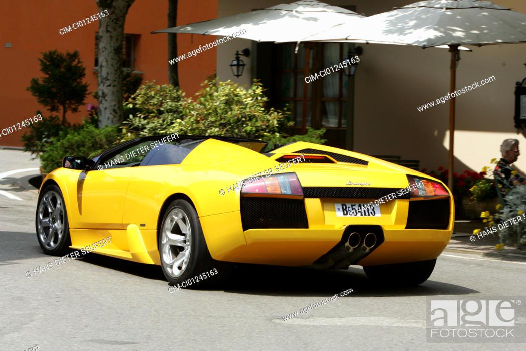 Car Lamborghini Murcielago Roadster Model Year 2004 Yellow