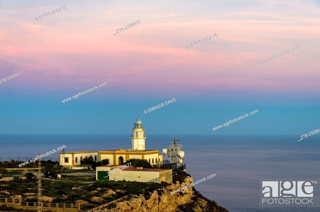 Stock Photo: A cliff sight in Carboneras coast, Almería province, Spain.