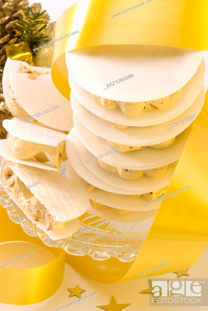 Stock Photo: Torro d'Agramunt typical catalan nougat.