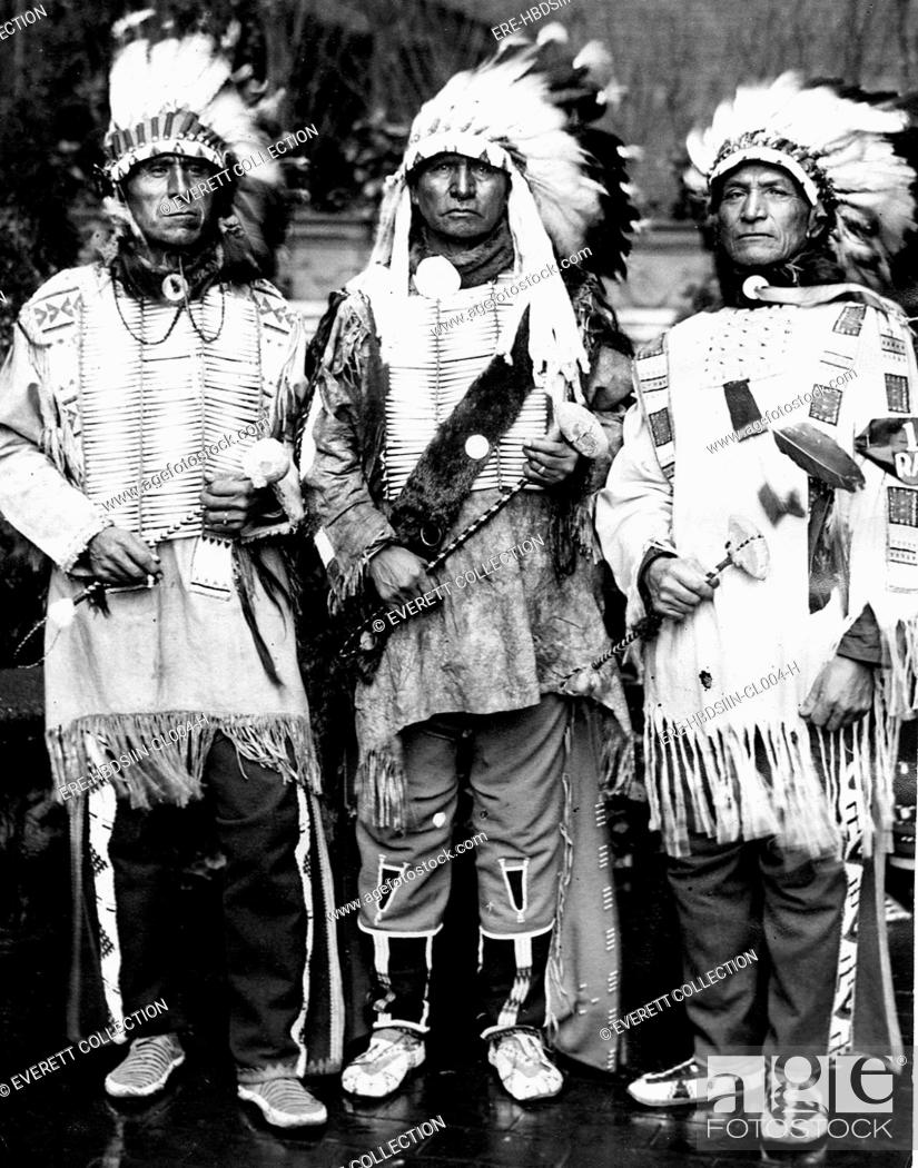 SIOUX INDIANS-Sioux Indians Jimmy Grass, Mike Spider
