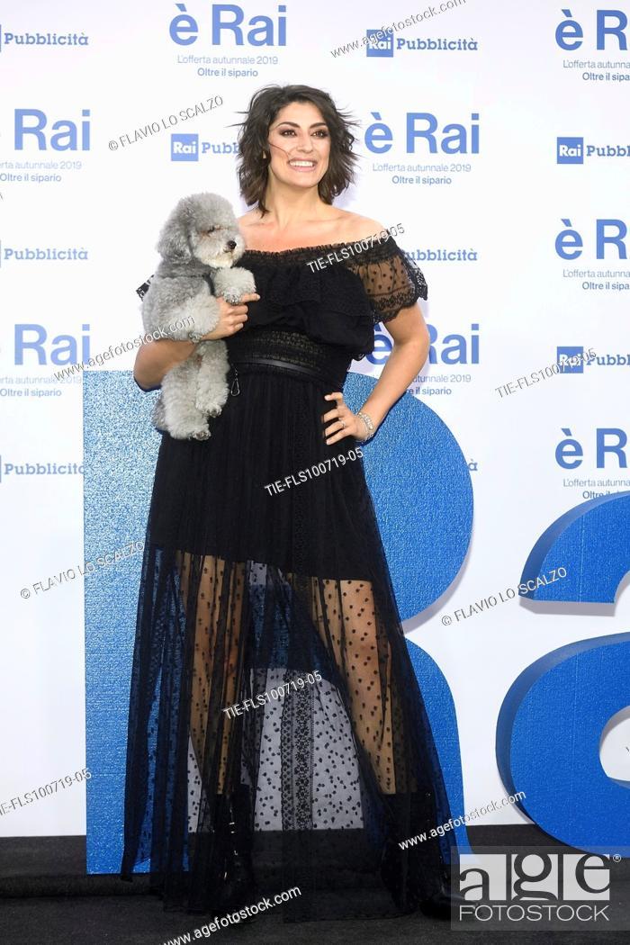 Stock Photo: Elisa Isoardi during the Rai programming launch in Milan, ITALY-09-07-2019.