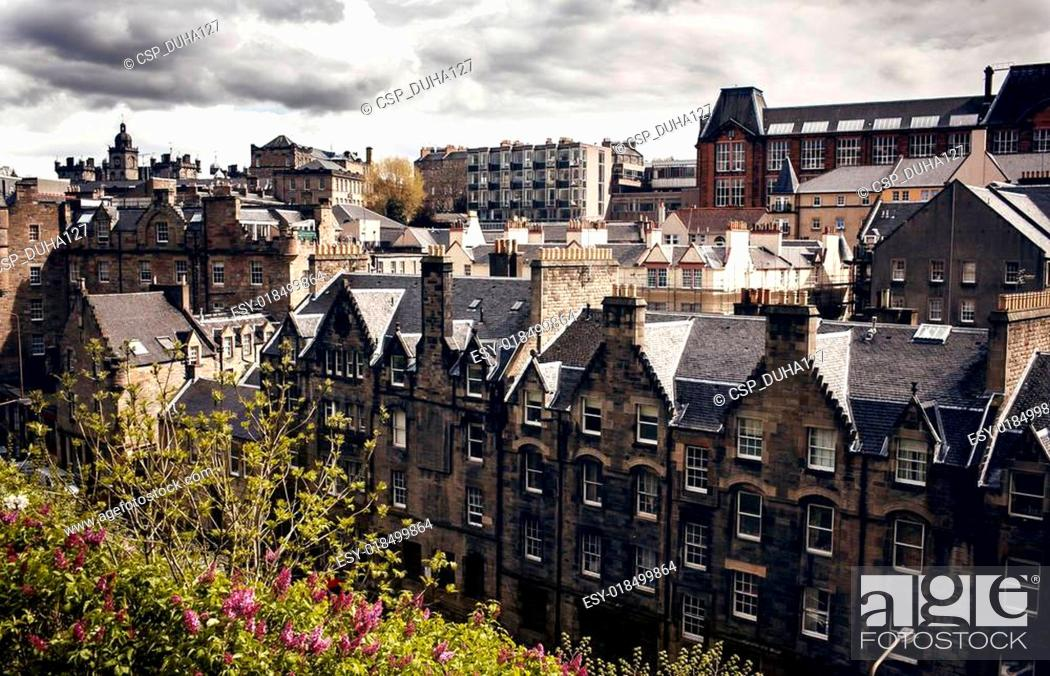 Stock Photo: Edinburgh city view.