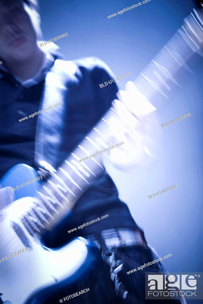 Stock Photo: Electric guitar.