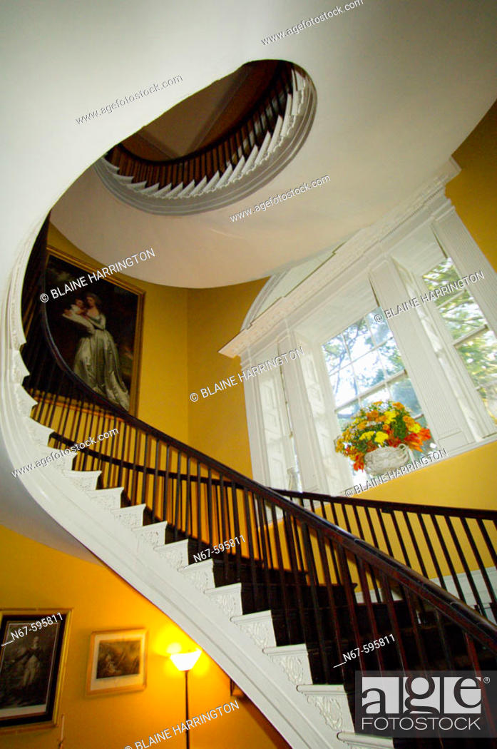 Stock Photo: Nathaniel Russell House (museum) in the historic district of Charleston, South Carolina.