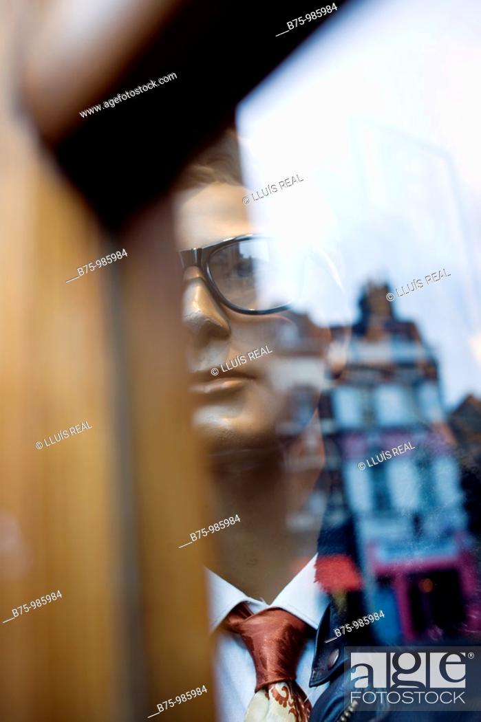 Stock Photo: Mannequin with eyeglasses.