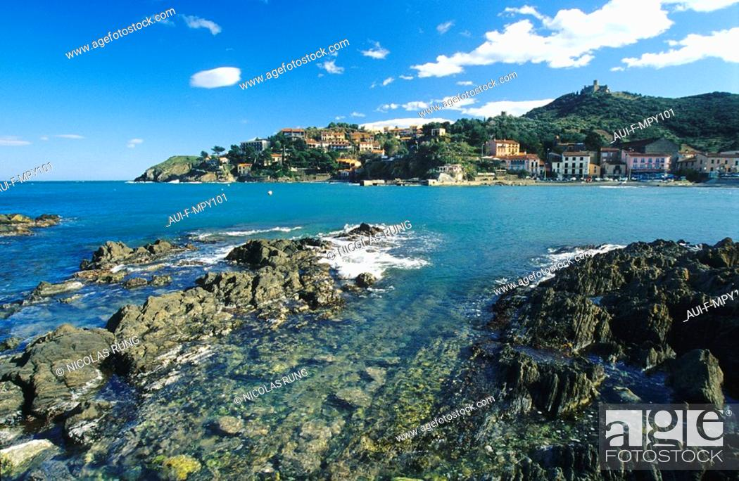 Stock Photo: France - Pyrenees Orientales - Collioure.