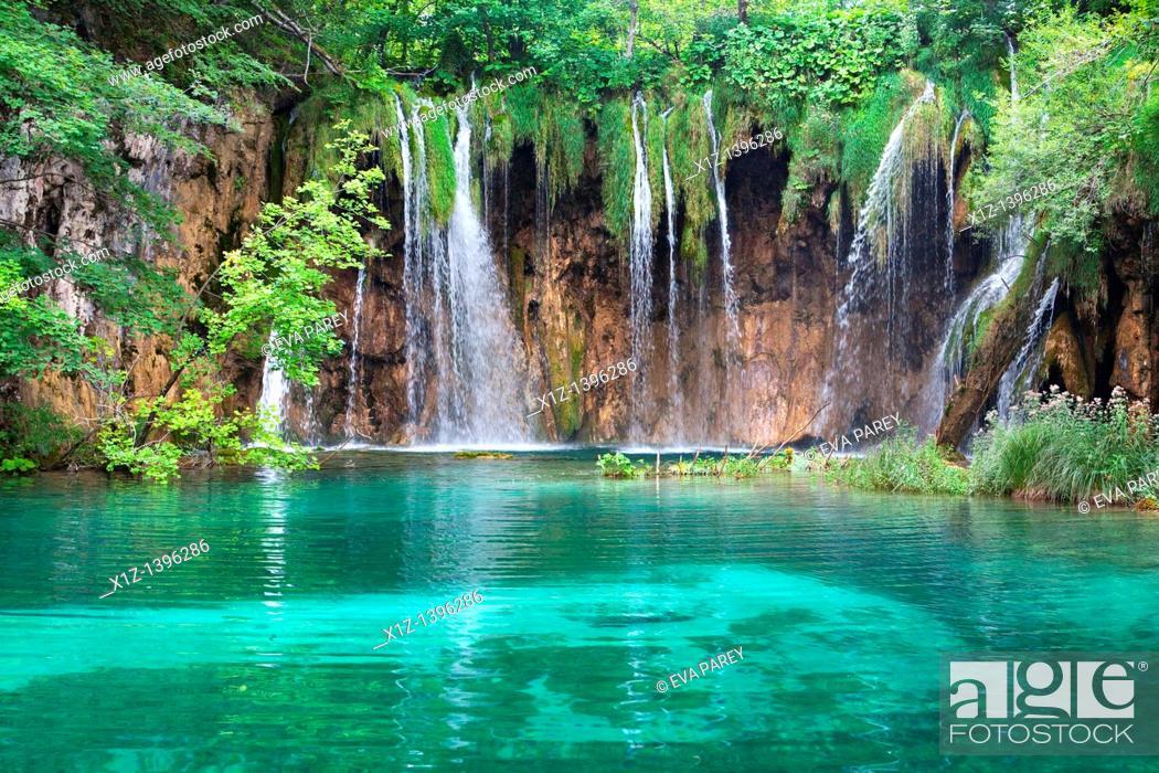 Stock Photo: National Park of Plitvice in Croatia.
