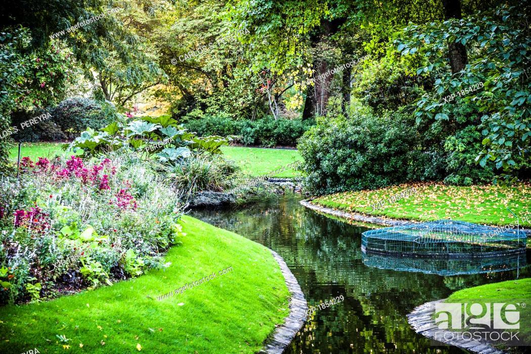 Stock Photo: Botanical Garden Jardin des Plantes in Nantes, Pays de la Loire, France, Europe.