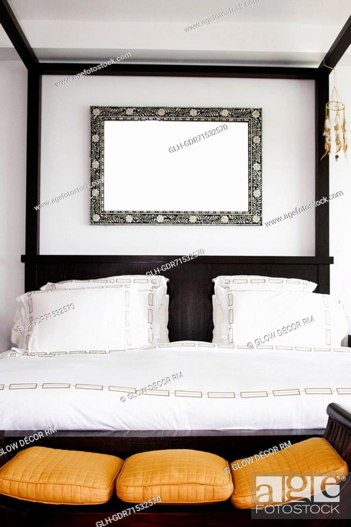 Stock Photo: Interiors of a bedroom.