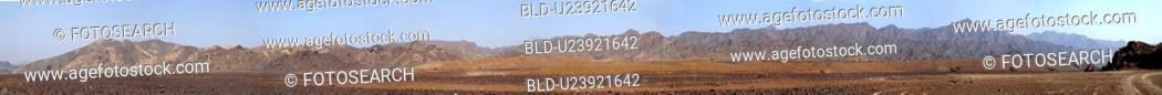 Stock Photo: panorama, panoramic, desert, view.