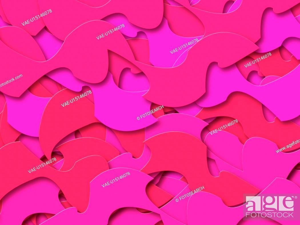 Stock Photo: Pink Abstract Shapes.