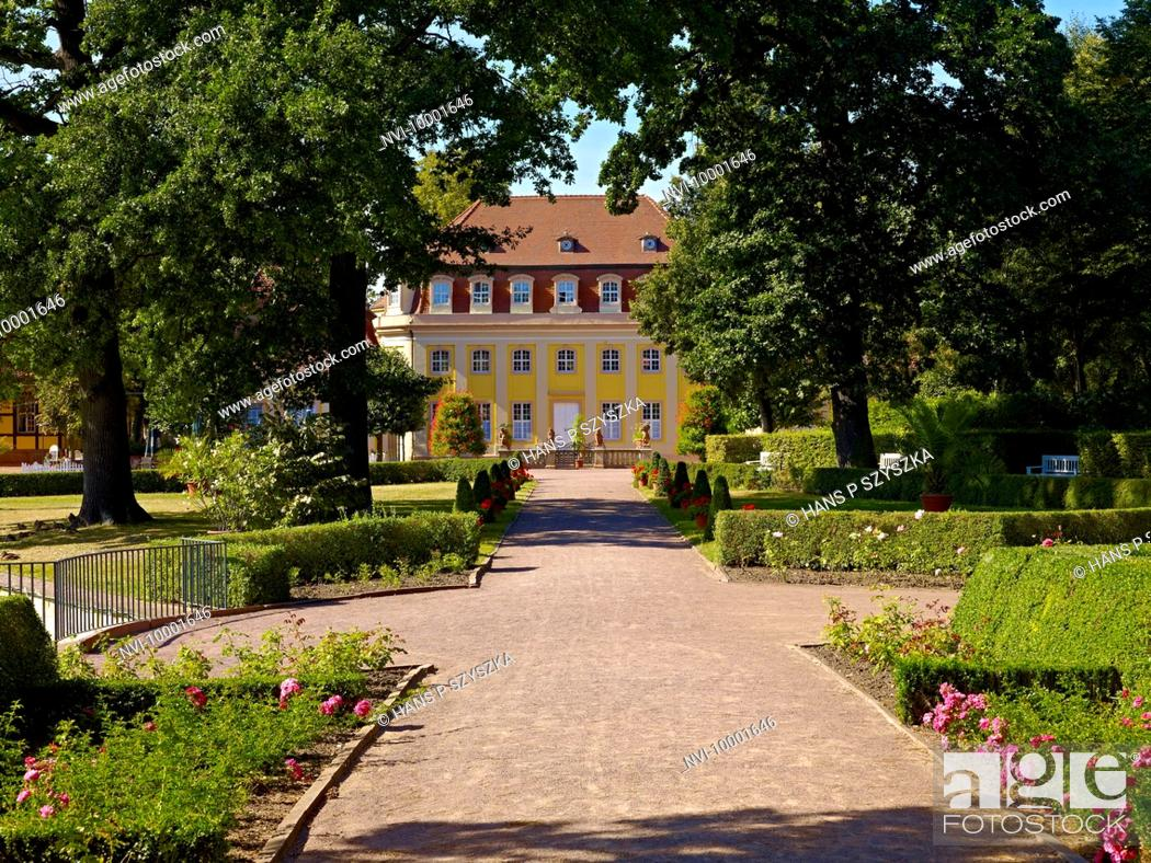 Stock Photo: Historical spa complex, Bad Lauchstaedt, Saxony-Anhalt, Germany.