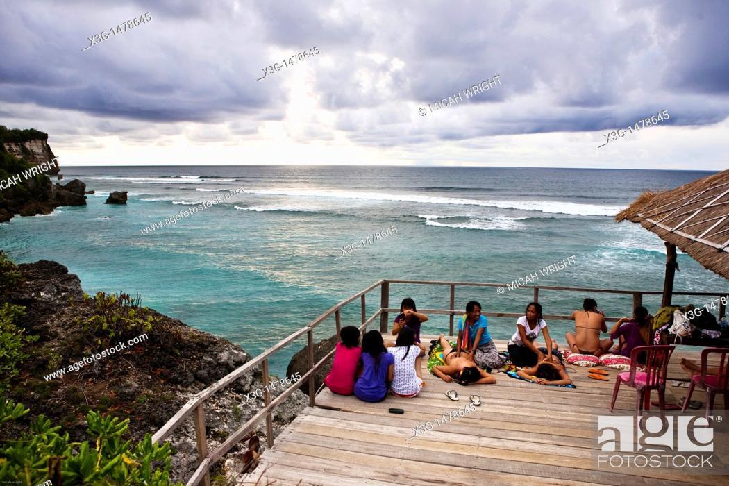 Views Overlooking The Famous Surf Spot Of Uluwatu Bali