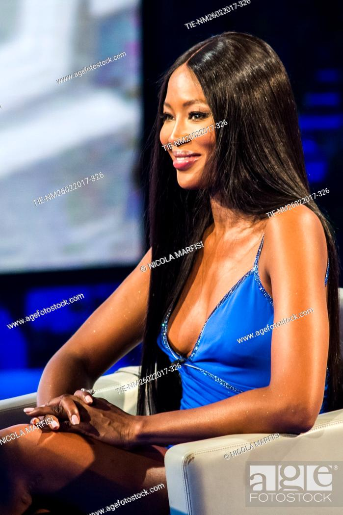 Imagen: The top model Naomi Campbell during the tv show Che tempo che fa, Milan, ITALY-12/03/2017.