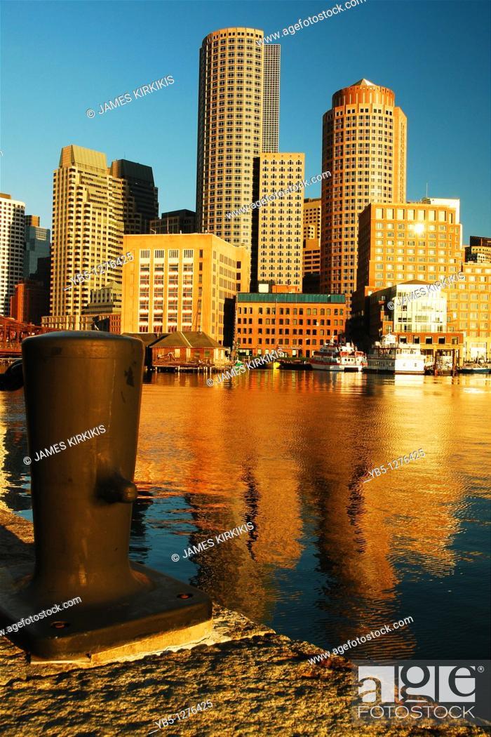Stock Photo: Rowe's Wharf, Boston.