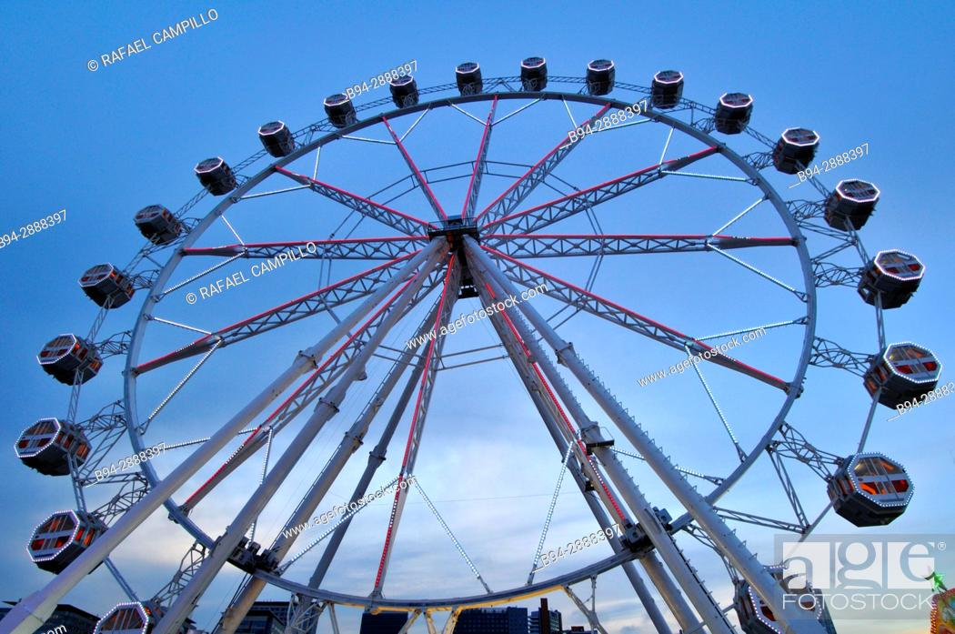 Stock Photo: Ferris wheel, April Fair, Barcelona. Catalonia, Spain.