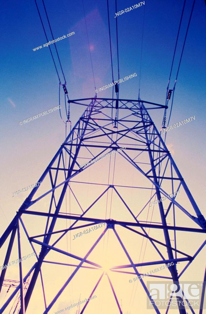 Stock Photo: Power Plant Tower.