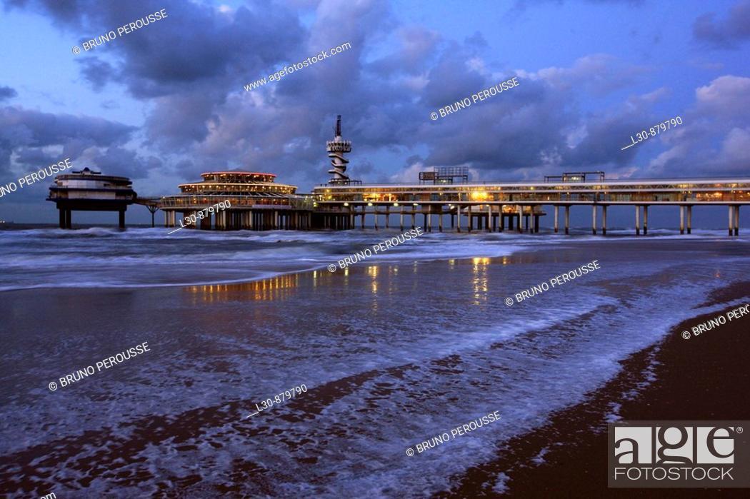 Stock Photo: Scheveningen pier, The Hague, The Netherlands.